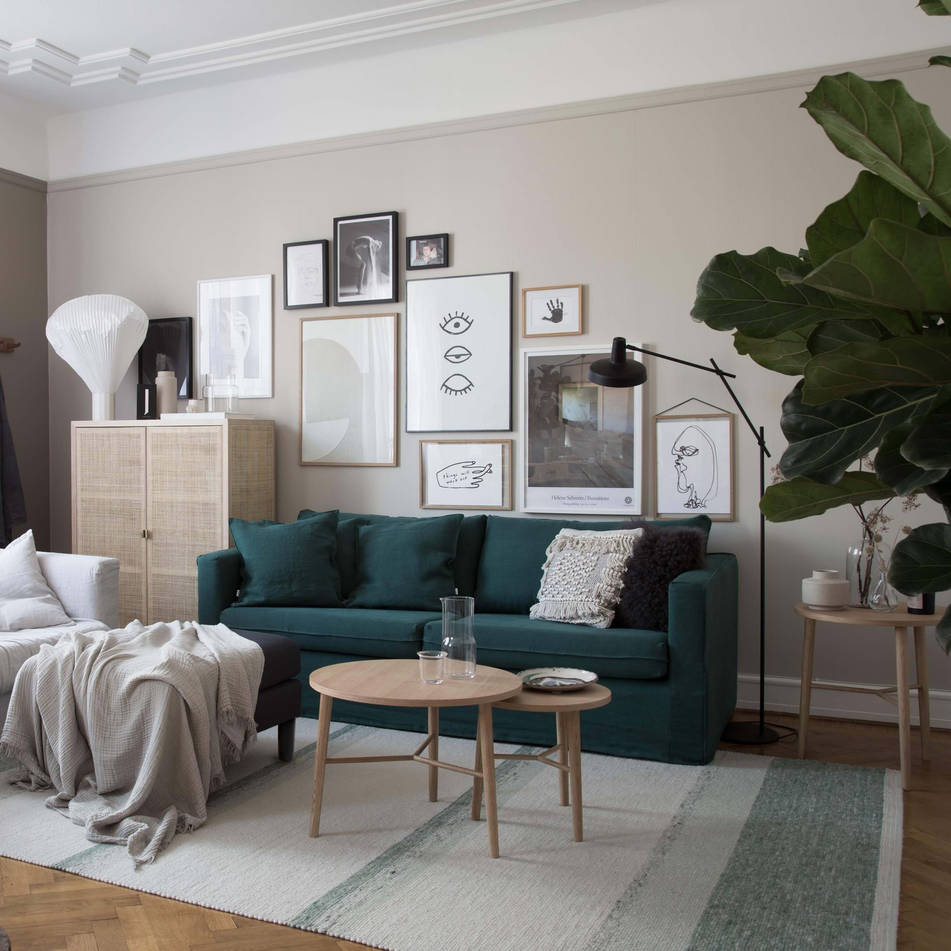 My Scandinavian Home's IKEA Karlstad sofa style makeover | Bemz