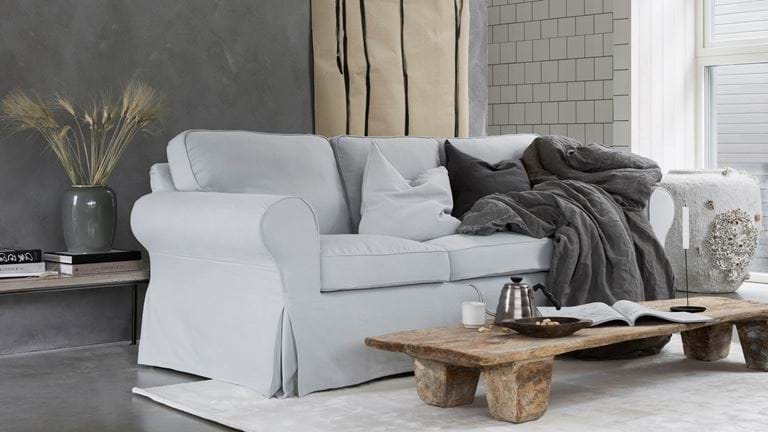 Simply Linen - Natural, affordable sofa covers for IKEA ...