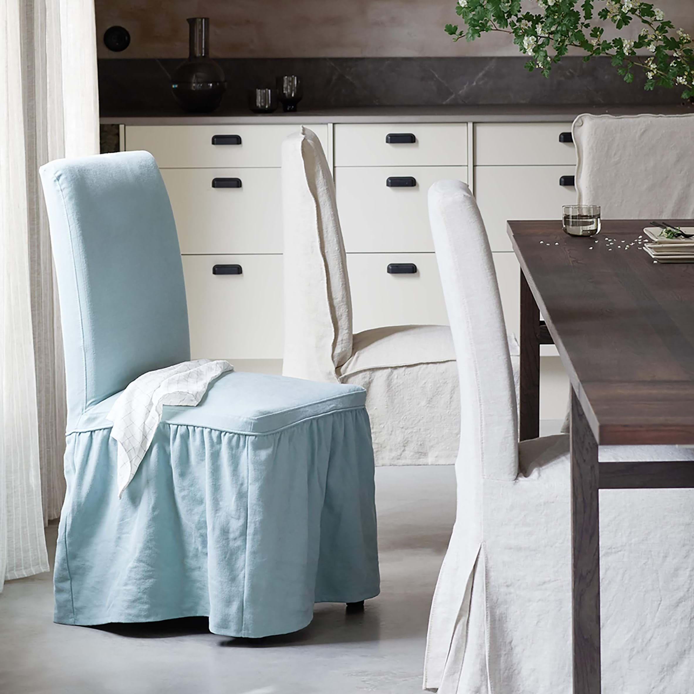 IKEA Henriksdal, Chair cover long with frills | Bemz