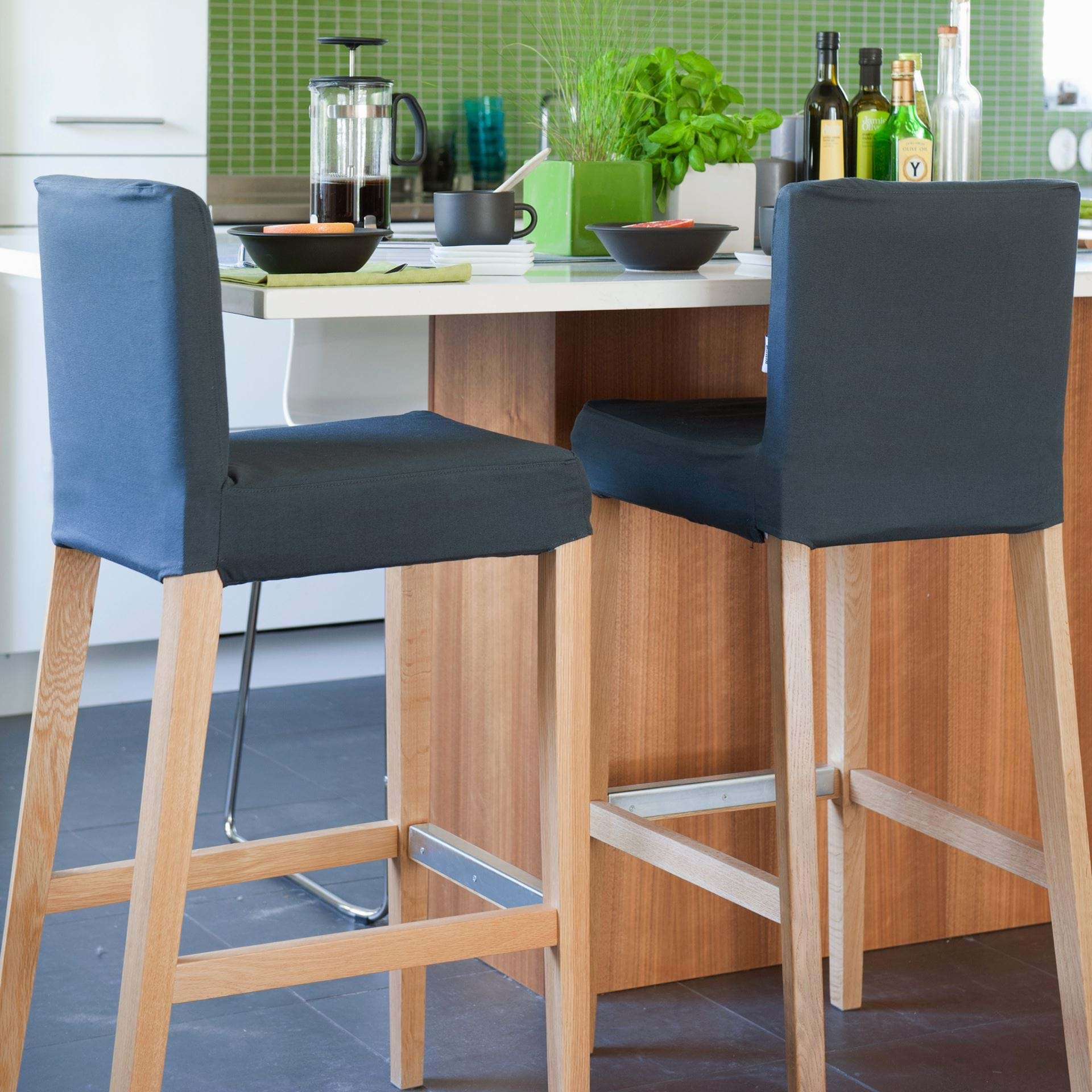 Astonishing Henriksdal Barstool Cover Standard Model Bemz Machost Co Dining Chair Design Ideas Machostcouk