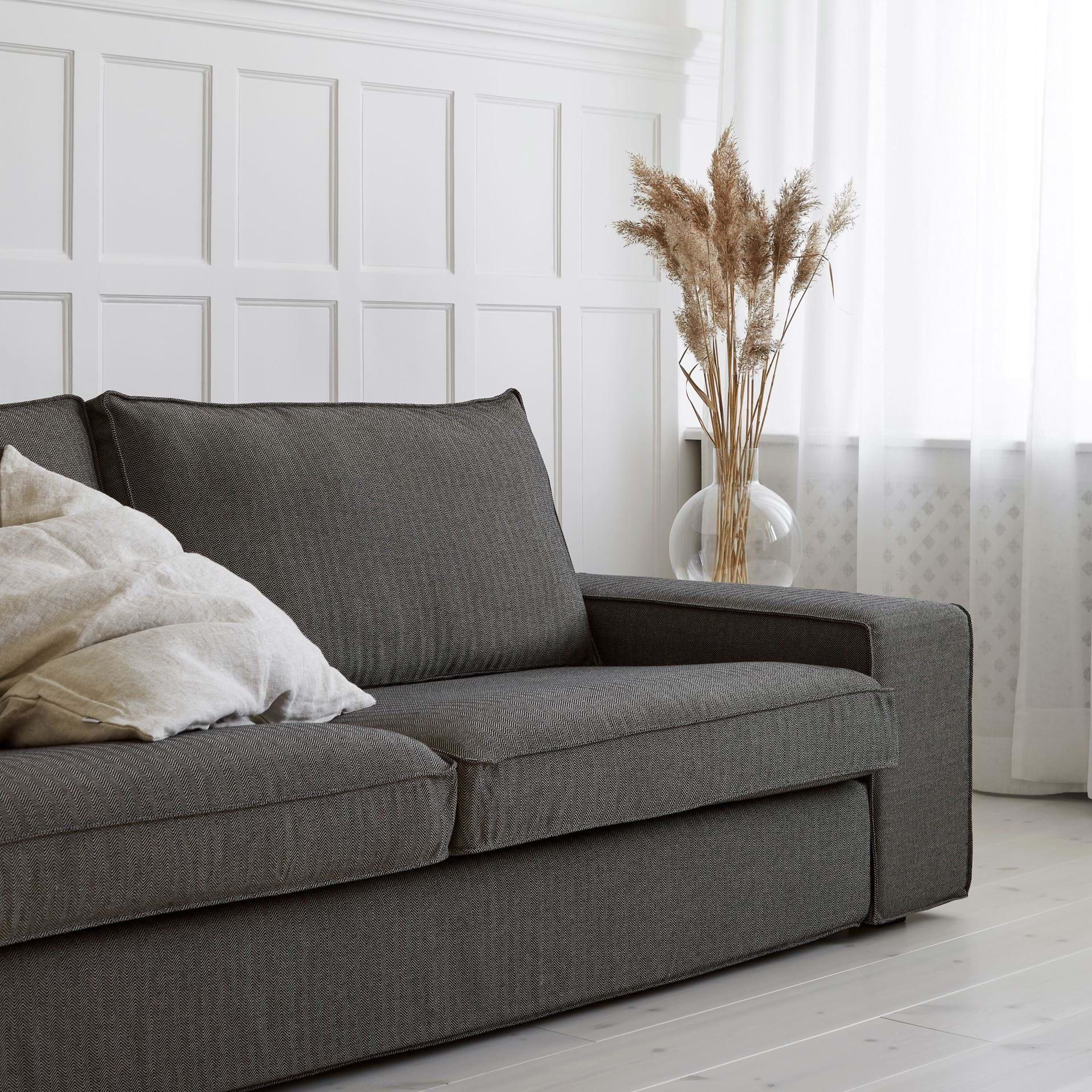 Ikea Federe Cuscini Divano ikea kivik, fodera per divano a 3 posti - bemz | bemz