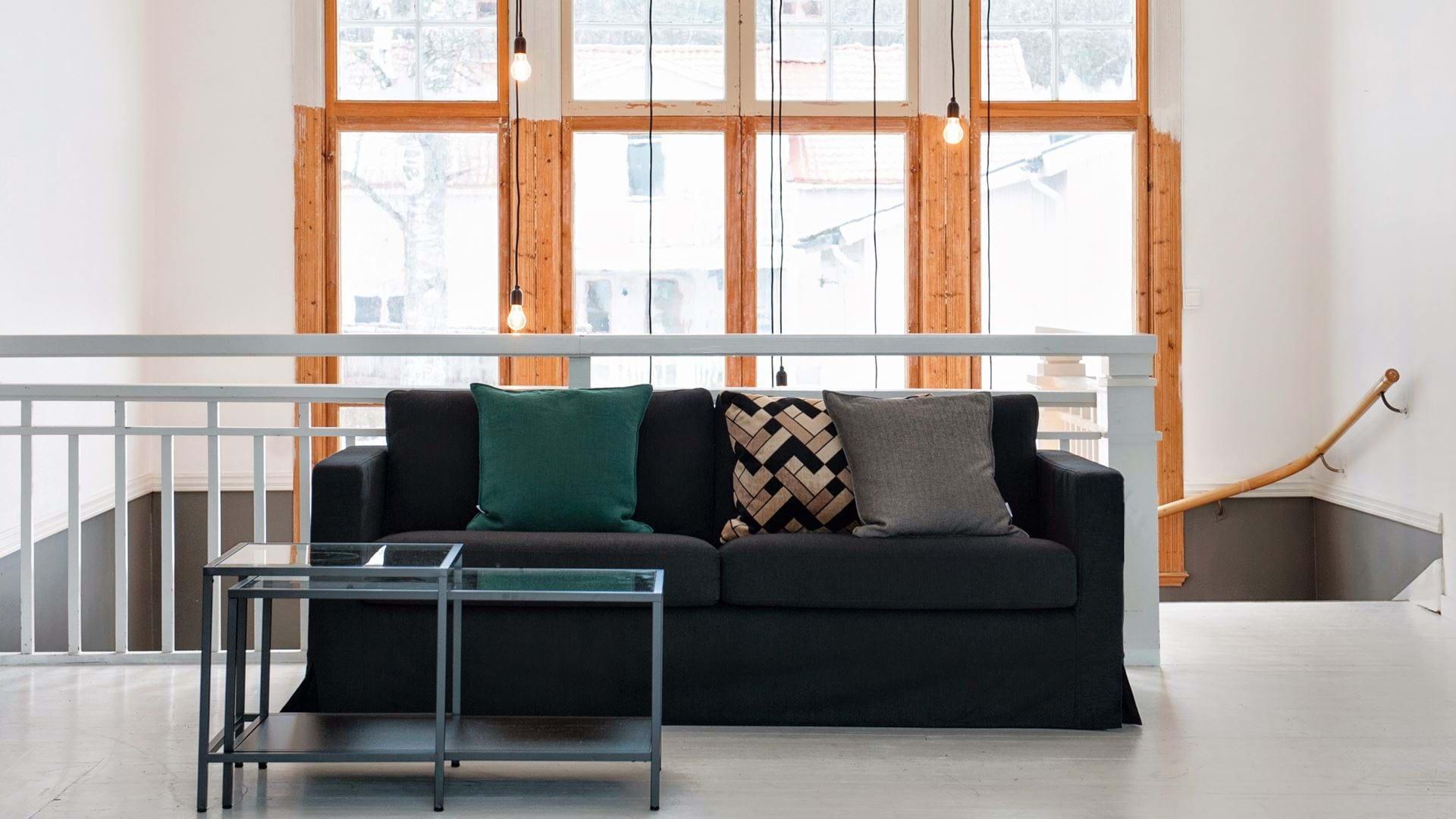 Enjoyable Ikea Karlstad 2 Seater Sofa Cover Long Skirt Bemz Bemz Unemploymentrelief Wooden Chair Designs For Living Room Unemploymentrelieforg