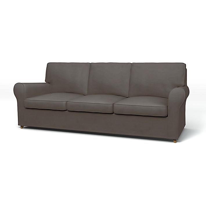 IKEA - Överdrag till Ängby 3-sitssoffa, Taupe, Sammet - Bemz
