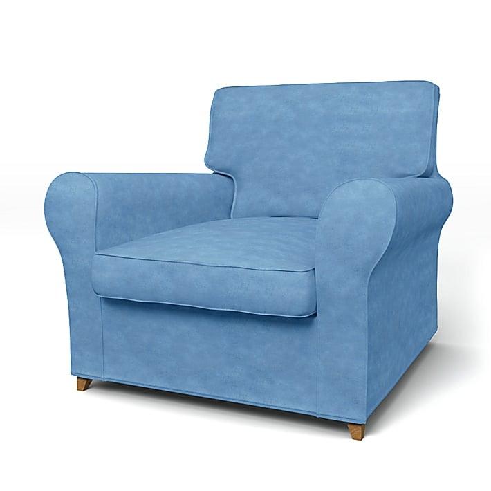 IKEA - Överdrag till Ängby fåtölj (standard modell), Pigeon, Sammet - Bemz