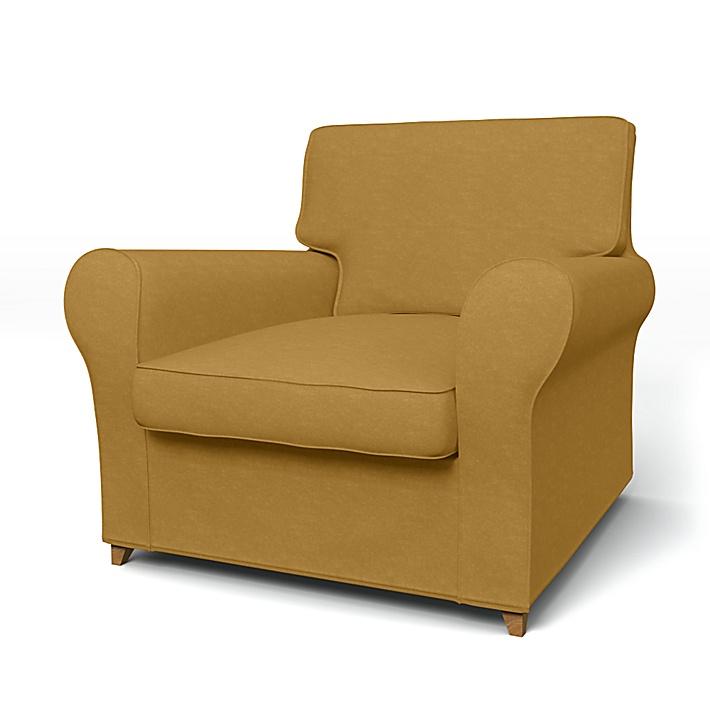 IKEA - Överdrag till Ängby fåtölj (standard modell), Honey, Sammet - Bemz