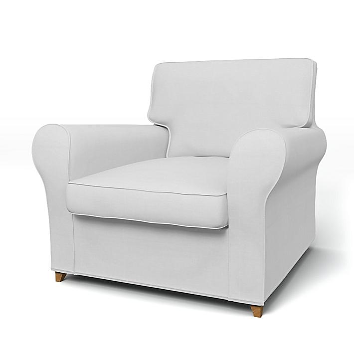 IKEA - Överdrag till Ängby fåtölj (liten modell), Silver Grey, Bomull - Bemz