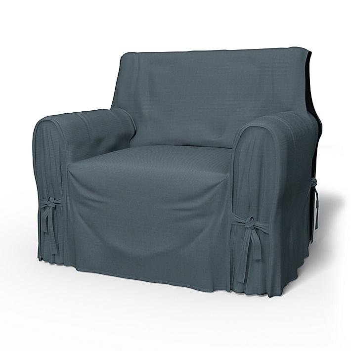 IKEA - Trekk til lenestol, Multi Fit stor modell, Graphite Grey, Bomull - Bemz