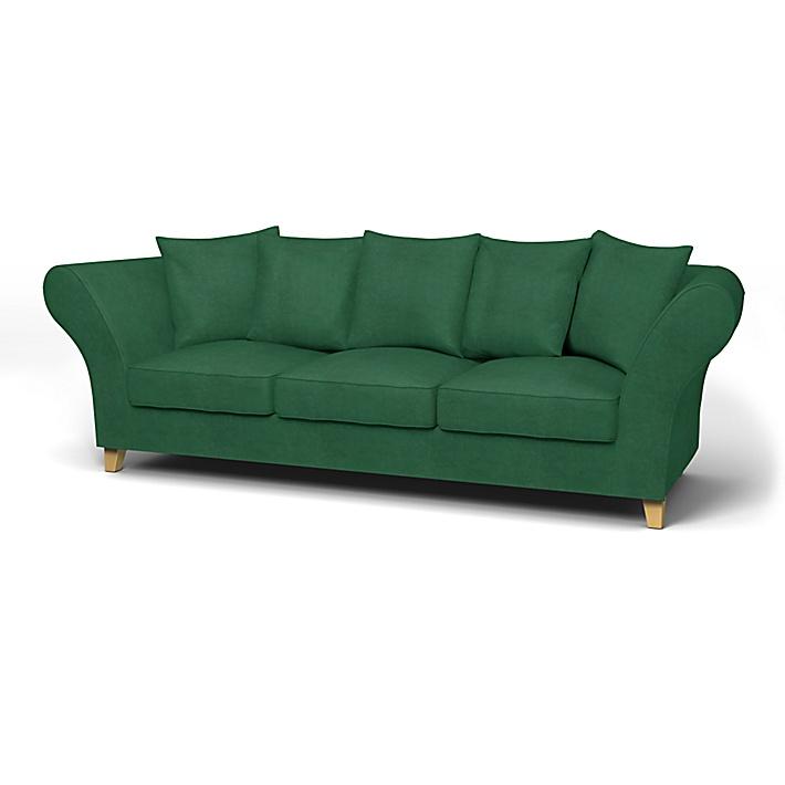 IKEA - Trekk til Backa 3,5-seters sofa, Ivy Green, Fløyel - Bemz