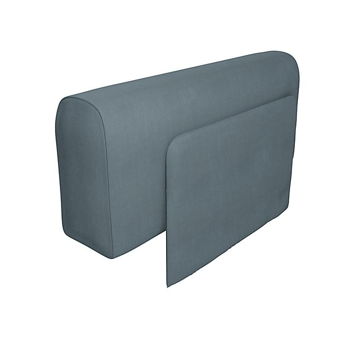 IKEA - Trekk til Delaktig lenestol med pute, Dusk, Lin - Bemz