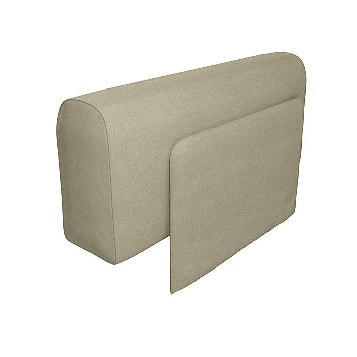 IKEA - Trekk til Delaktig lenestol med pute, Pebble, Lin - Bemz