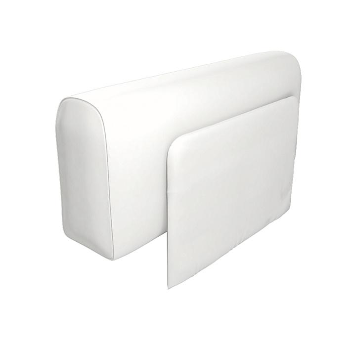 IKEA - Trekk til Delaktig lenestol med pute, Absolute White, Lin - Bemz