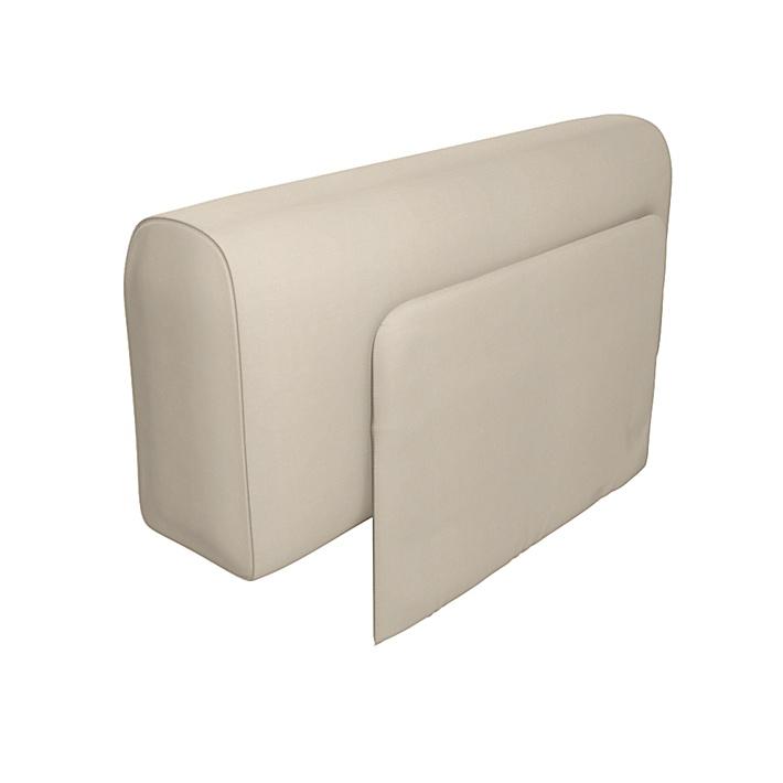 IKEA - Överdrag till Delaktig armstöd med kudde, Sand Beige, Bomull - Bemz