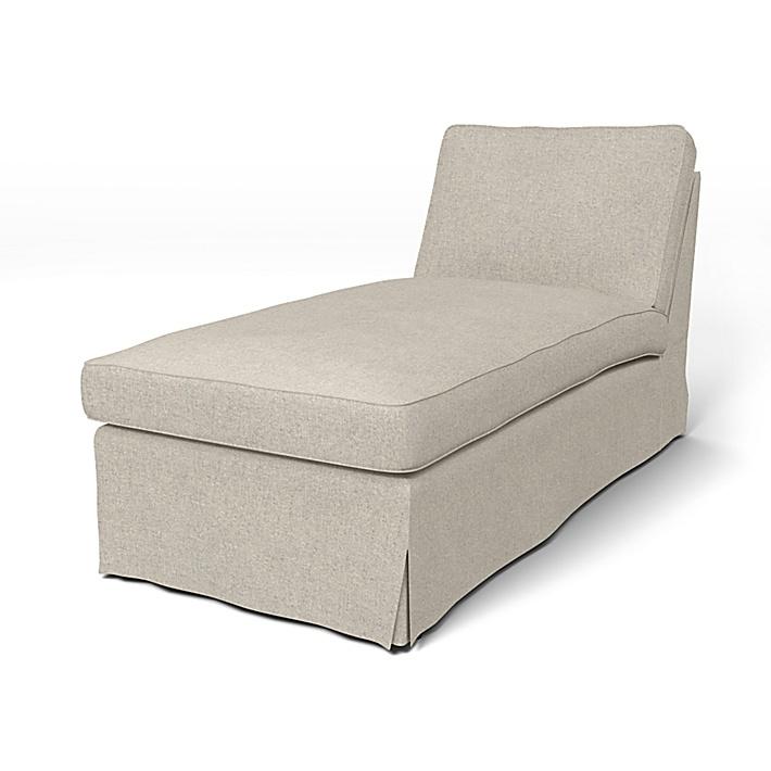 IKEA - Överdrag till Ektorp schäslong, Silver Grey, Conscious - Bemz
