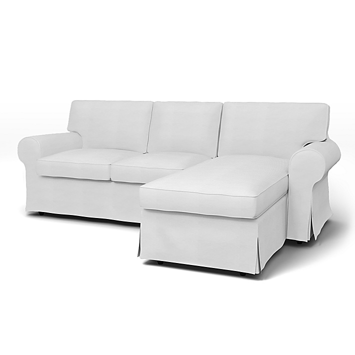Ikea Ektorp 2 Seater Sofa With Chaise Longue Cover With Piping Bemz Bemz