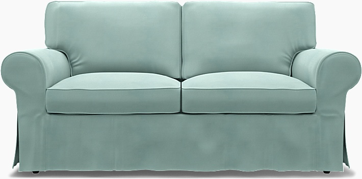 IKEA - Överdrag till Ektorp 2-sitssoffa, Mineral Blue, Sommarrea - Bemz