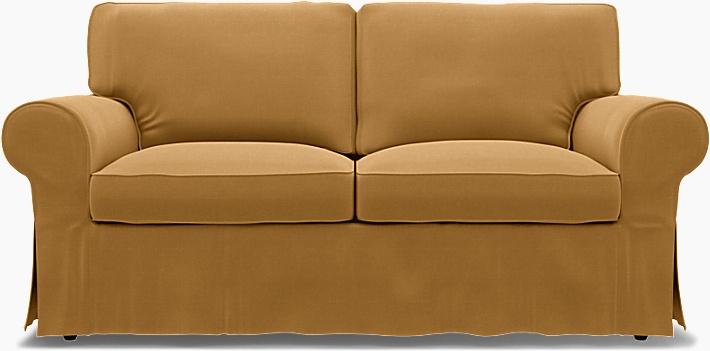 IKEA - Överdrag till Ektorp 2-sitssoffa, Mustard, Linne - Bemz
