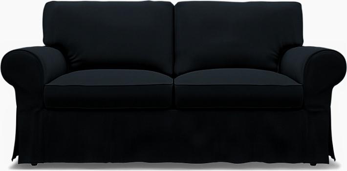 IKEA - Överdrag till Ektorp 2-sitssoffa, Jet Black, Bomull - Bemz