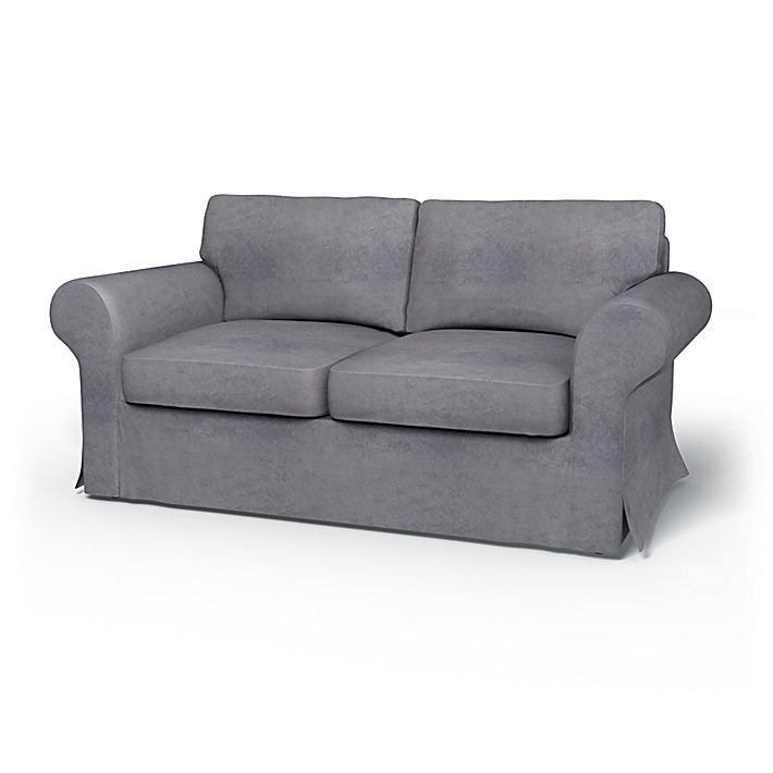 IKEA - Överdrag till Ektorp 2-sitsbäddsoffa, Zinc Grey, Sammet - Bemz