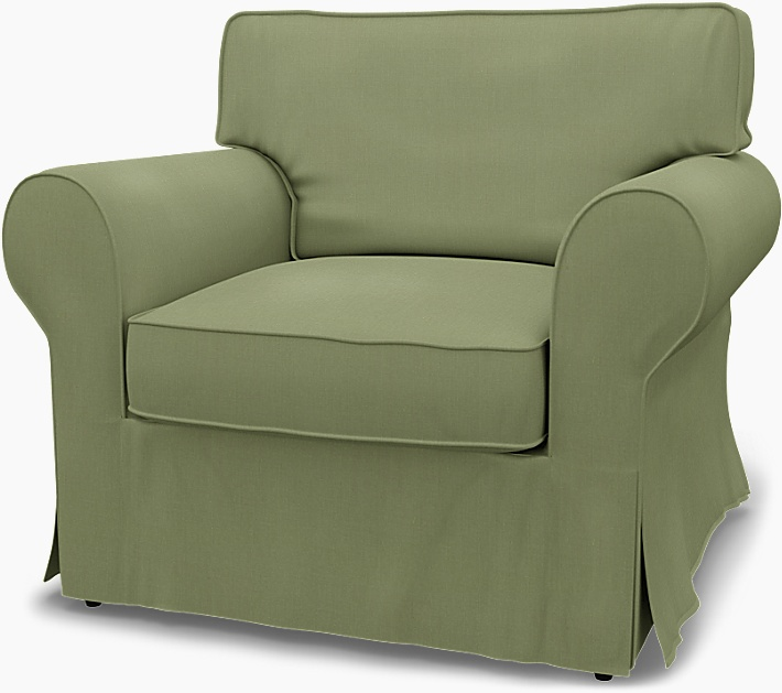 IKEA - Trekk til Ektorp lenestol, Olive, Lin - Bemz