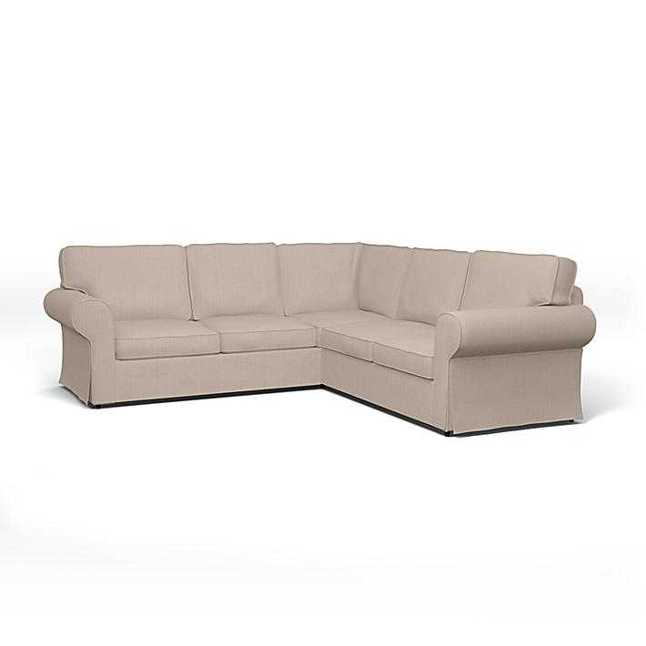 IKEA - Bezug für 4er-Ecksofa Ektorp, Sand Beige, Conscious - Bemz