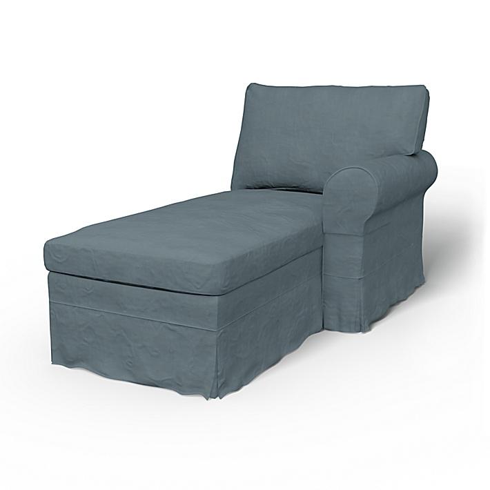 IKEA - Trekk til Ektorp sjeselong med høyre armlene, Dusk, Lin - Bemz