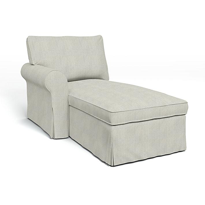 IKEA - Bezug für Récamiere Ektorp, Armlehne links, Silver Grey, Conscious - Bemz