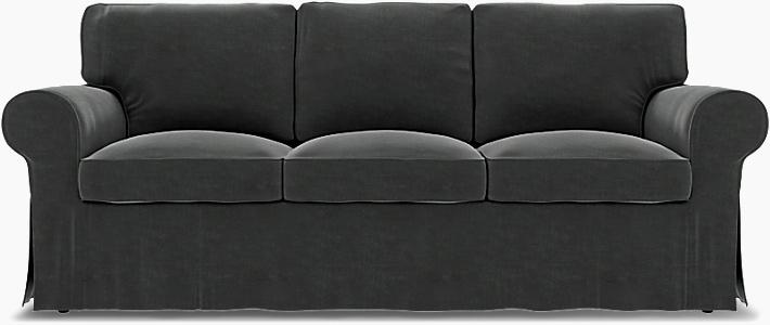 IKEA - Överdrag till Ektorp 3-sitsbäddsoffa, Moleskin, Sammet - Bemz