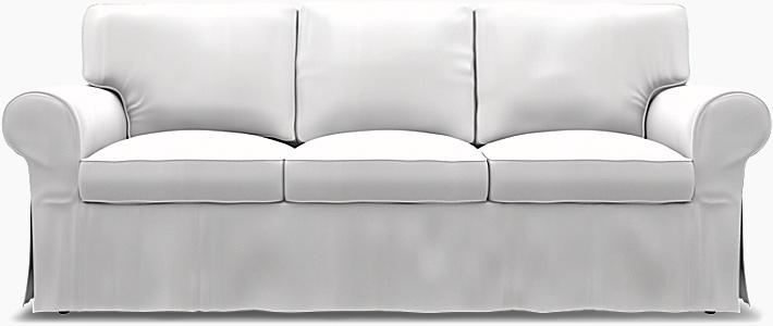 IKEA - Överdrag till Ektorp 3-sitsbäddsoffa, A Paler Shade of Grey, Bomull - Bemz