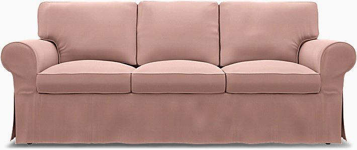 IKEA - Överdrag till Ektorp 3-sitsbäddsoffa, Misty Rose, Bomull - Bemz