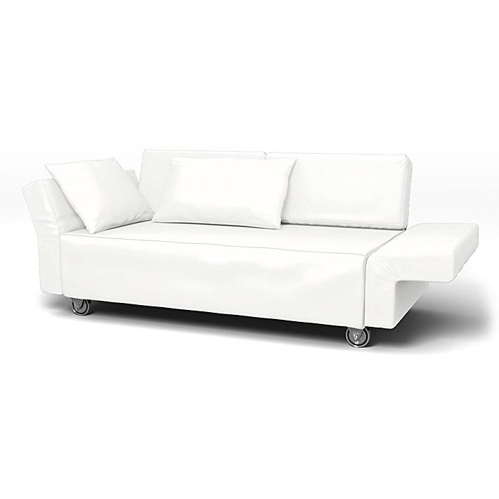 IKEA - Trekk til Falsterbo 2-seters sofa, Absolute White, Lin - Bemz