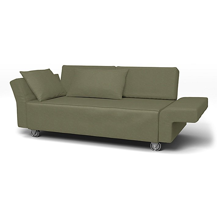 IKEA - Överdrag till Falsterbo 2-sitssoffa, Sage, Sammet - Bemz