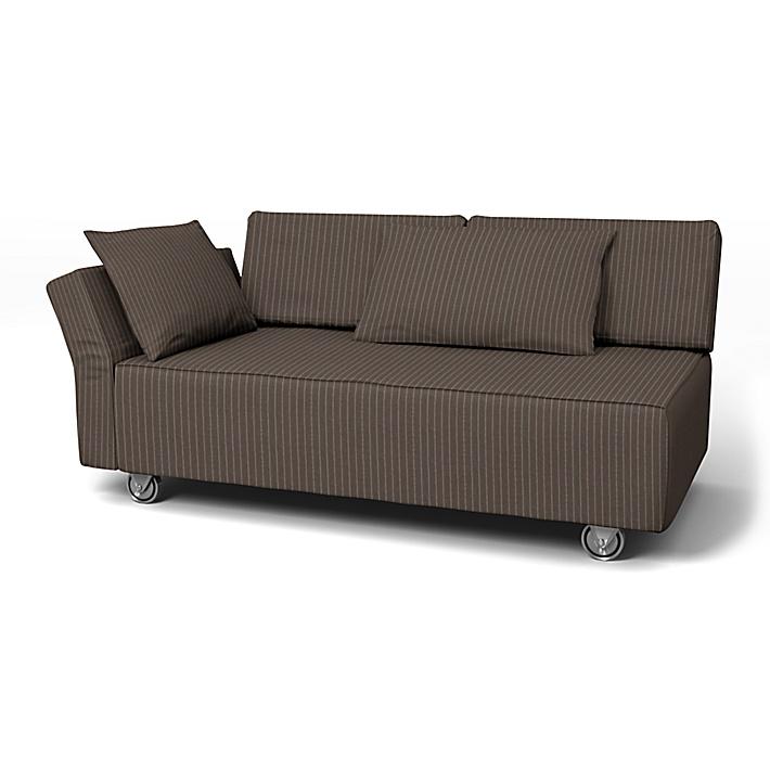 IKEA - Bezug für 2er-Sofa Falsterbo, Armlehne links, Taupe, Conscious - Bemz