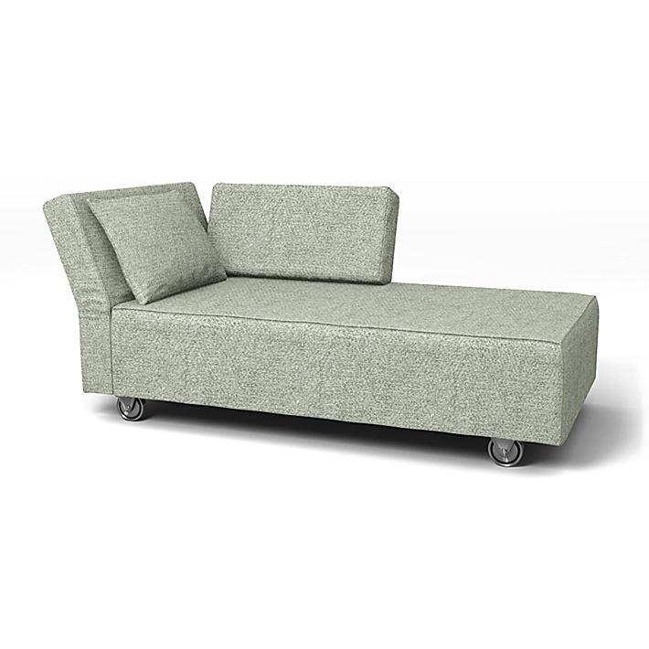 IKEA - Trekk til Falsterbo sjeselong med venstre armlene, Pistachio, Ull utseende - Bemz