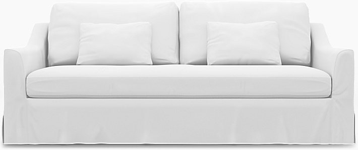 IKEA - Trekk til Färlöv 3-seters sofa, Absolute White, Lin - Bemz