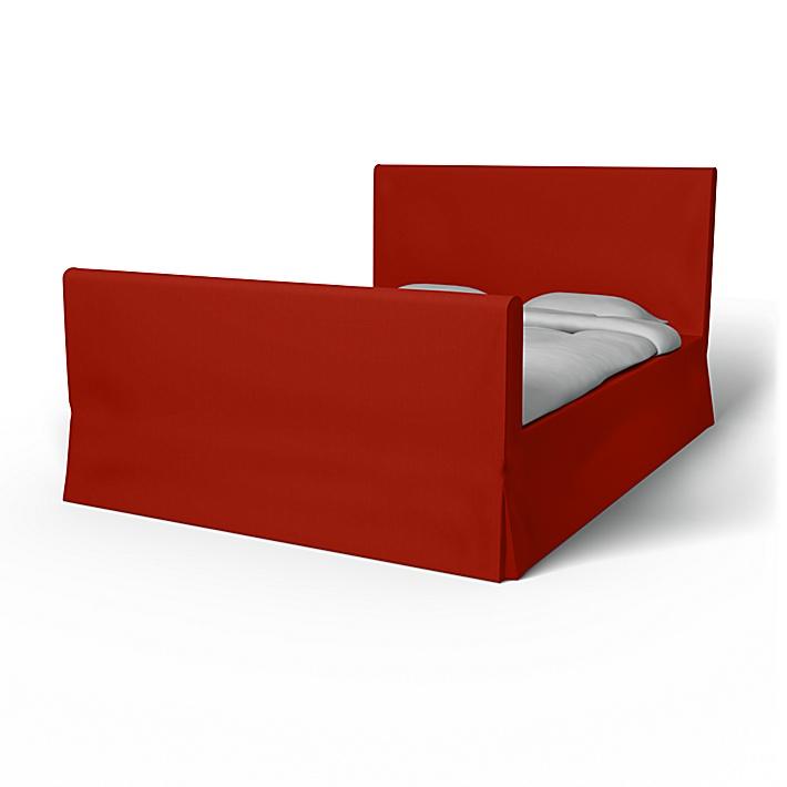 IKEA - Bezug für Bettrahmen Florö, Cinnabar Red, Baumwolle - Bemz