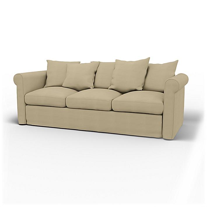 IKEA - Trekk til Grönlid 3-seters sofa, Sand Beige, Bomull - Bemz