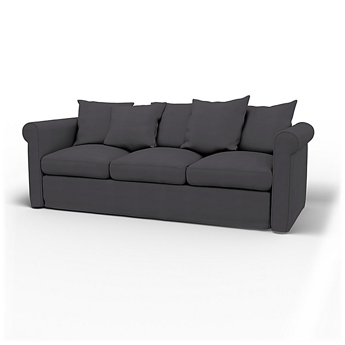 IKEA - Trekk til Grönlid 3-seters sofa, Graphite Grey, Bomull - Bemz