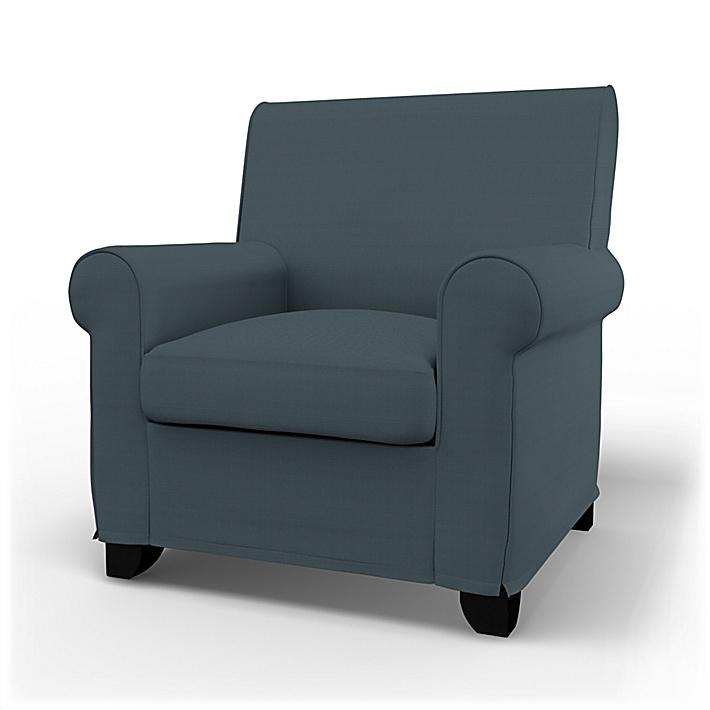 IKEA - Trekk til Grönlid lenestol, Graphite Grey, Bomull - Bemz