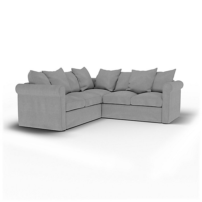 IKEA - Housse de canapé d'angle 4 places Grönlid, Graphite, Lin - Bemz