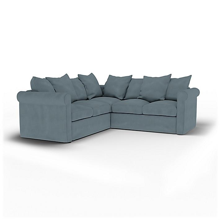 IKEA - Housse de canapé d'angle 4 places Grönlid, Dusk, Lin - Bemz