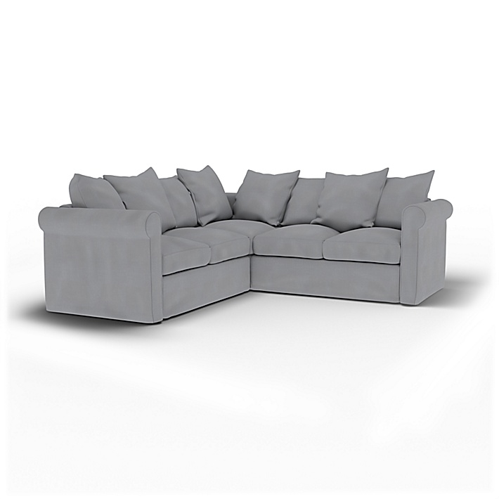 IKEA - Housse de canapé d'angle 4 places Grönlid, Pewter, Lin - Bemz