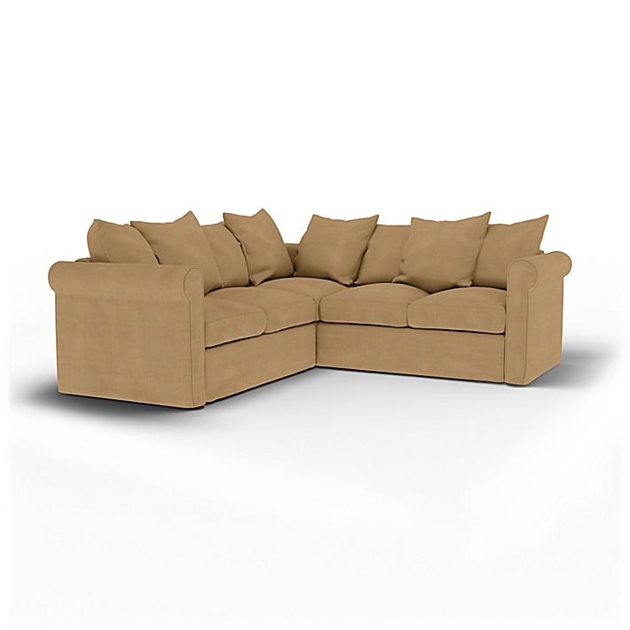 IKEA - Housse de canapé d'angle 4 places Grönlid, Hemp, Lin - Bemz