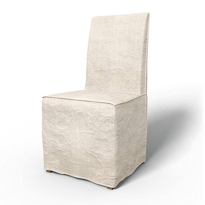 IKEA - Bezug für Stuhl Henriksdal Bodenlanger Bezug mit französischen Nähten (Standard Modell), Unbleached, Leinen - Bemz