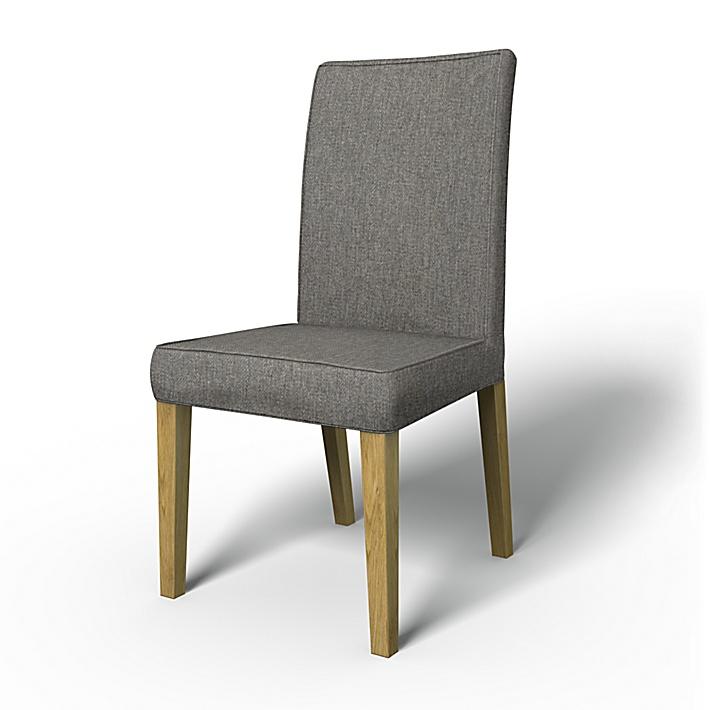 IKEA - Trekk til Henriksdal spiestuestol med bisebånd (Stor modell), Taupe, Ull utseende - Bemz