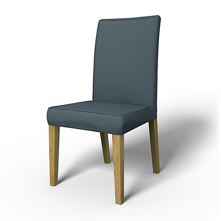 IKEA - Överdrag till Henriksdal stol med keder/passpoal (standard modell), Graphite Grey, Bomull - Bemz