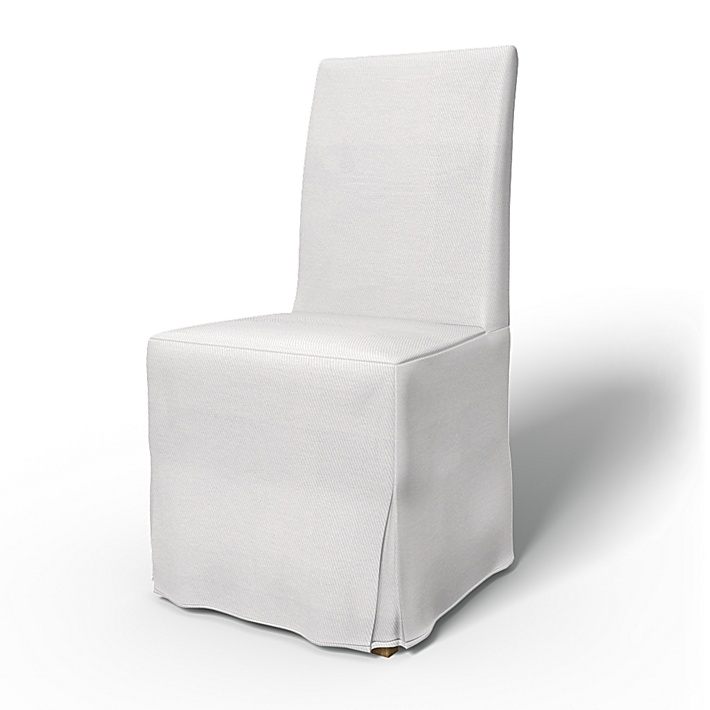 IKEA - Trekk til Henriksdal spiestuestol Lang kappe med motfold (standard modell), Absolute White, Bomull - Bemz