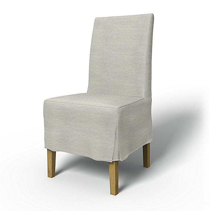 IKEA - Trekk til Henriksdal spiestuestol Medium kappe med motfold (standard modell), Silver Grey, Conscious - Bemz