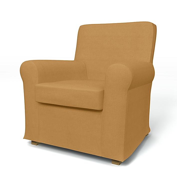 IKEA - Överdrag till Jennylund fåtölj, Mustard, Linne - Bemz