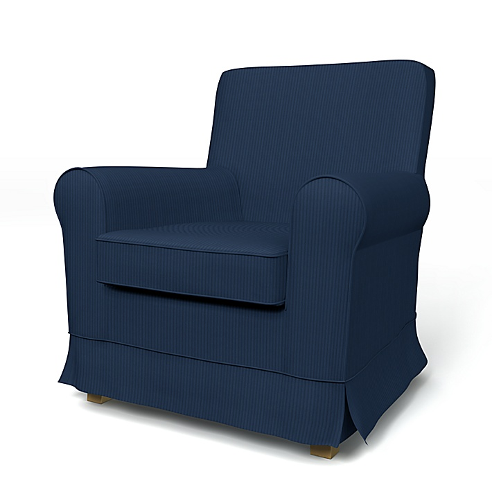 IKEA - Trekk til Jennylund lenestol, Peacoat, Kordfløyel - Bemz