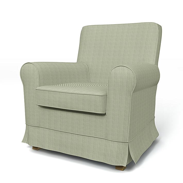 IKEA - Trekk til Jennylund lenestol, Seagrass, Kordfløyel - Bemz